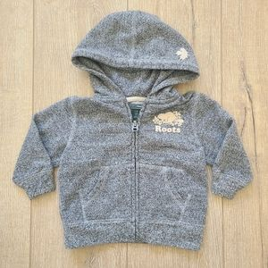 Roots Speckled Gray Baby Hoodie